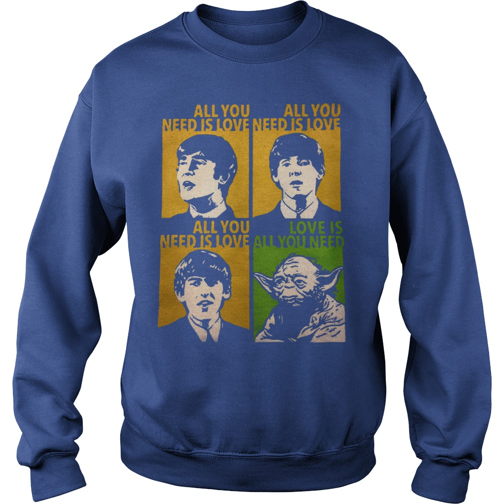 All You Need Is Love Beatles Yoda Sweater