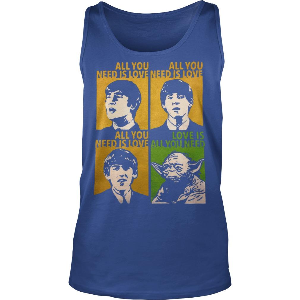 All You Need Is Love Beatles Yoda Tanktop