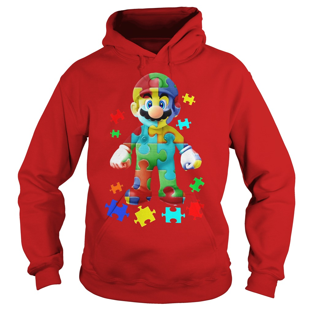 Super Mario Autism Awareness Hoodie
