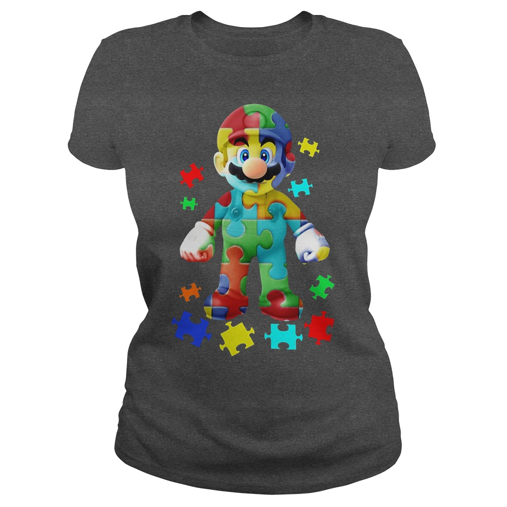 Super Mario Autism Awareness Ladies Tee