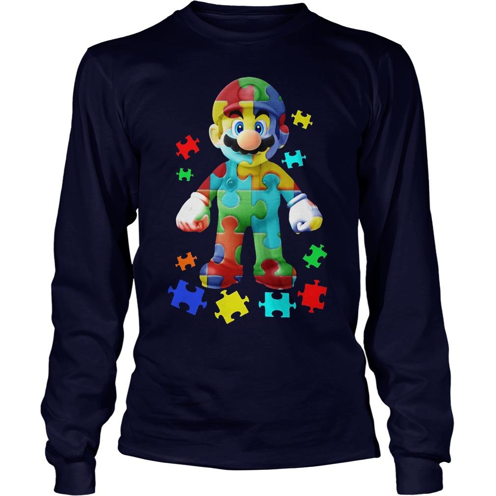 Super Mario Autism Awareness Longsleeve
