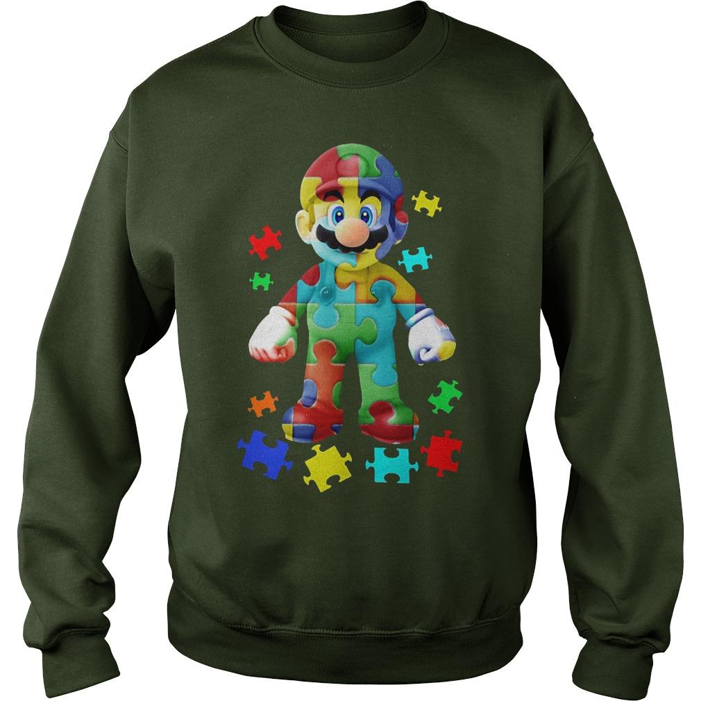 Super Mario Autism Awareness Sweater