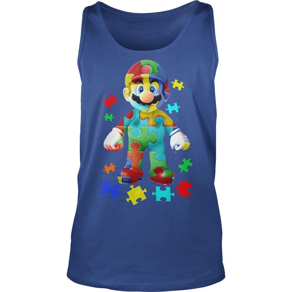 Super Mario Autism Awareness Tank Top