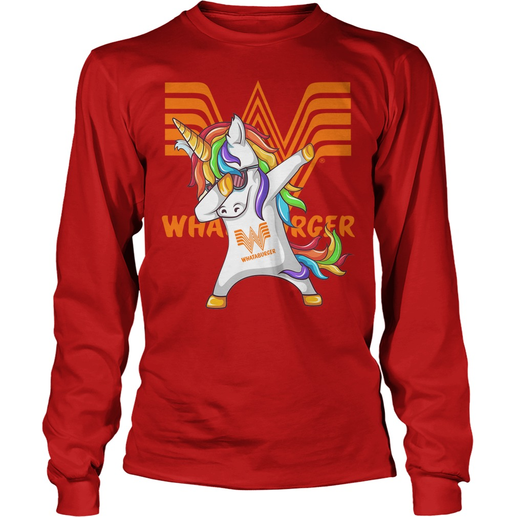 Unicorn Whataburger Dabbing Longsleeve