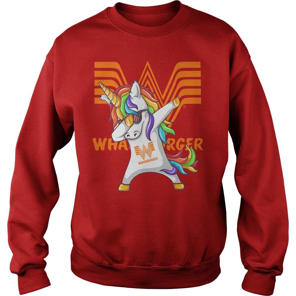 Unicorn Whataburger Dabbing Sweater