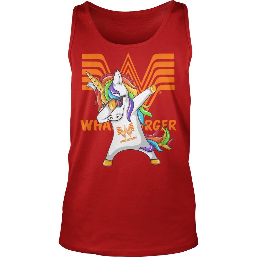 Unicorn Whataburger Dabbing Tanktop