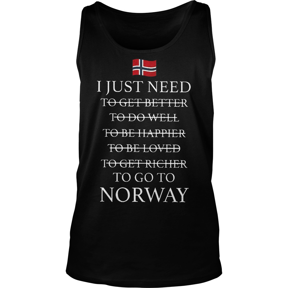 I Just Need To Go To Norway Tanktop