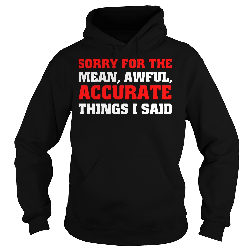 Sorry For The Mean Awful Accurate Things I Said Hoodie