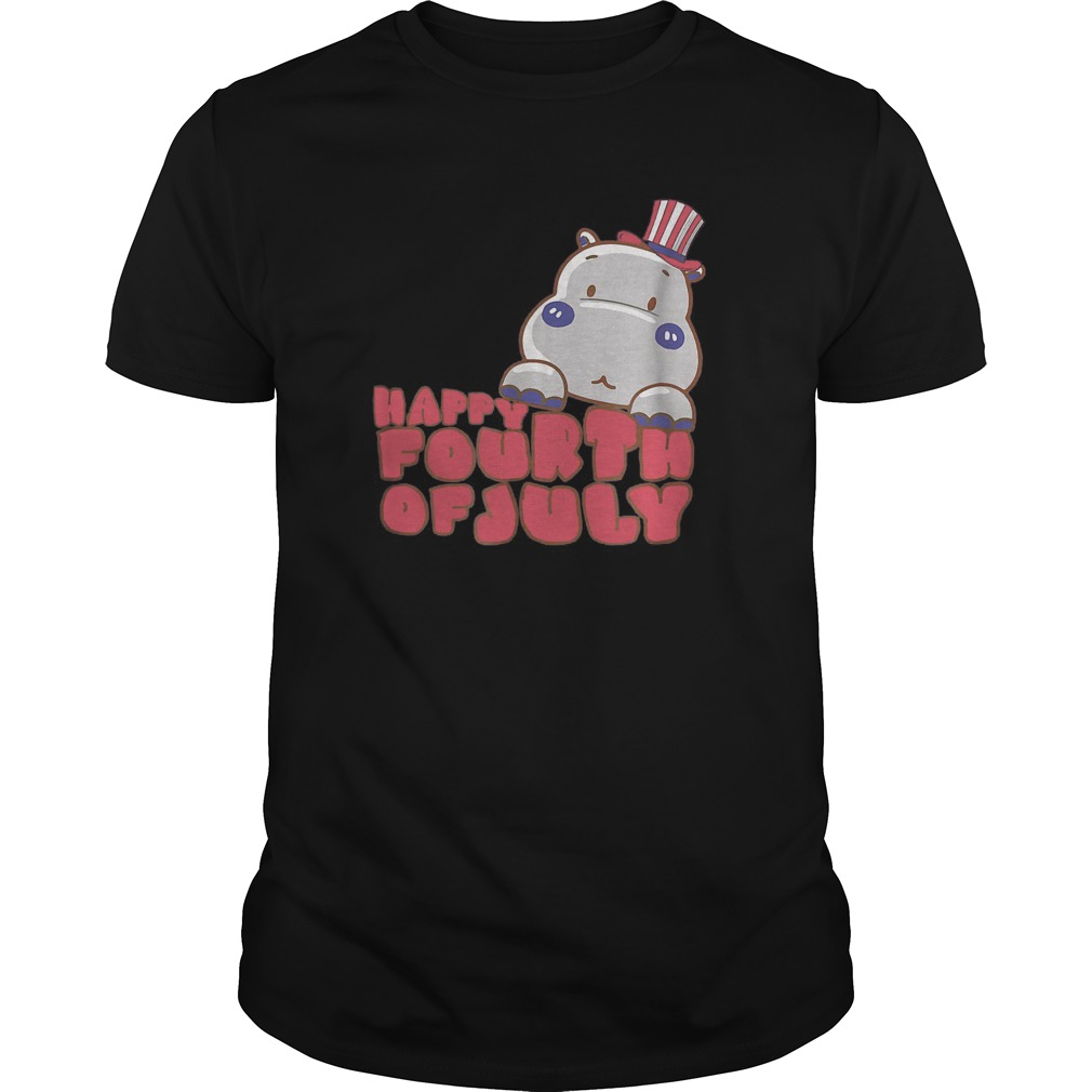4th Of July Hippo T Shirt