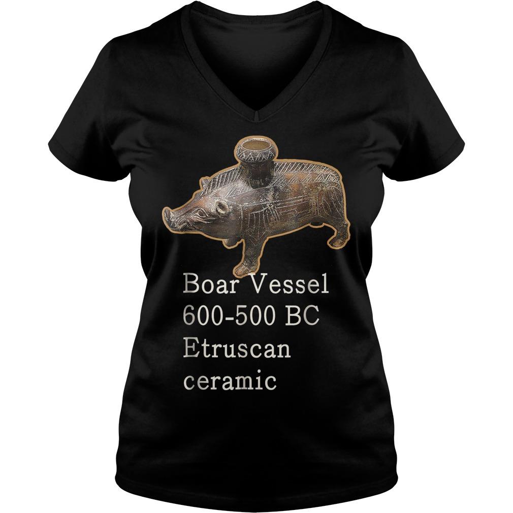 Boar Vessel 600 700 Bc Etruscan Ceramic V Neck
