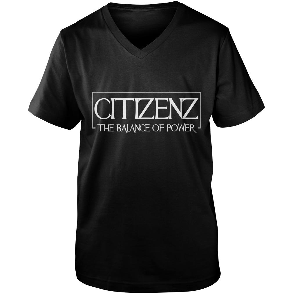 Citizenz The Balance Of Power T-Shirt Guys V-Neck