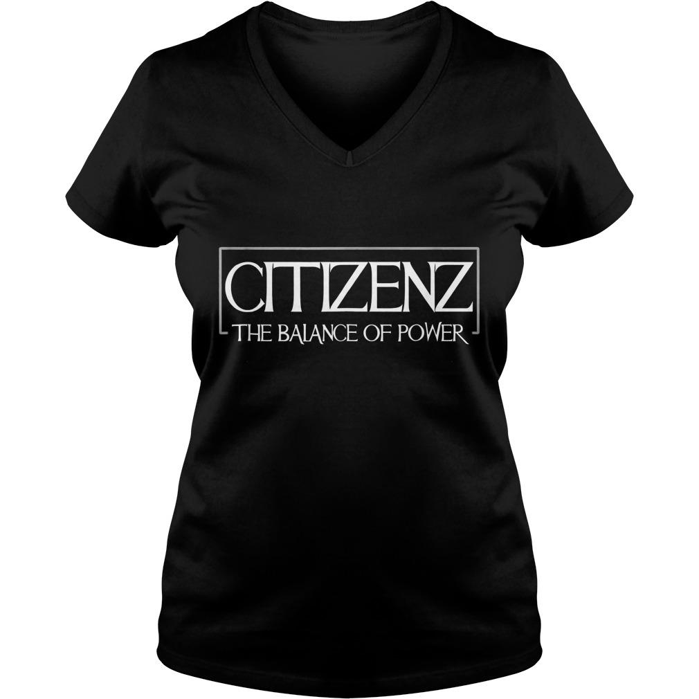 Citizenz The Balance Of Power T-Shirt Ladies V-Neck