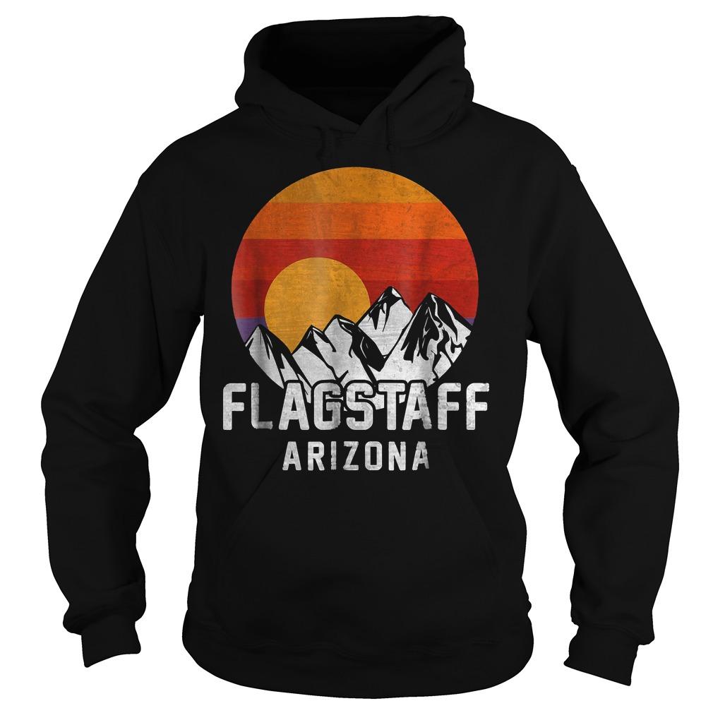 Flagstaff Arizona Retro Mountain Sunset T-Shirt Hoodie