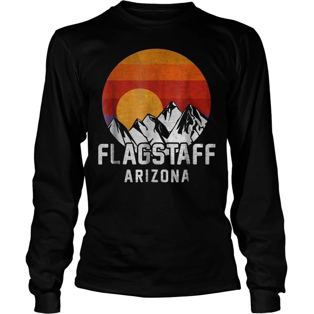 Flagstaff Arizona Retro Mountain Sunset T-Shirt Unisex Longsleeve Tee