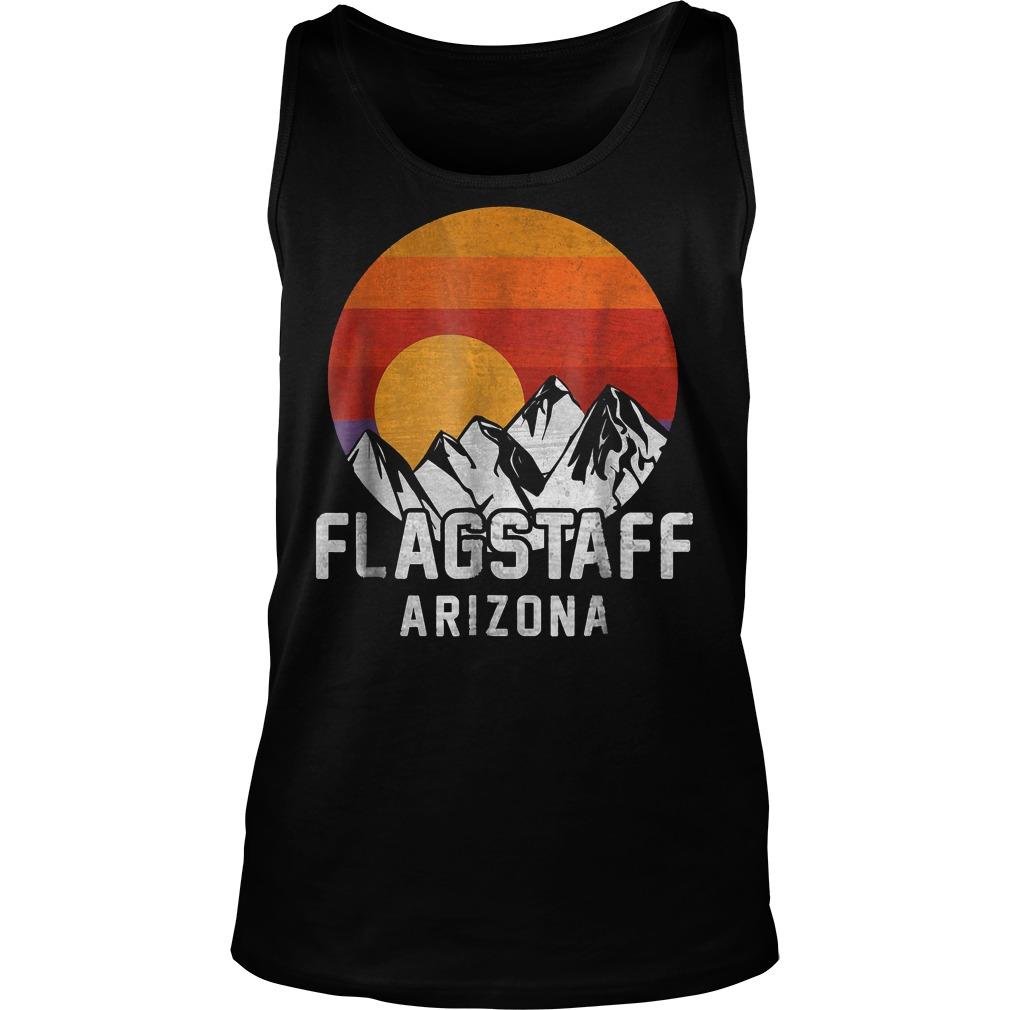 Flagstaff Arizona Retro Mountain Sunset T-Shirt Unisex Tank Top