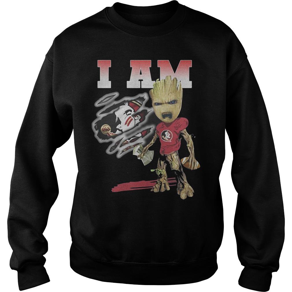 Groot I Am Florida State Seminoles Football Sweater