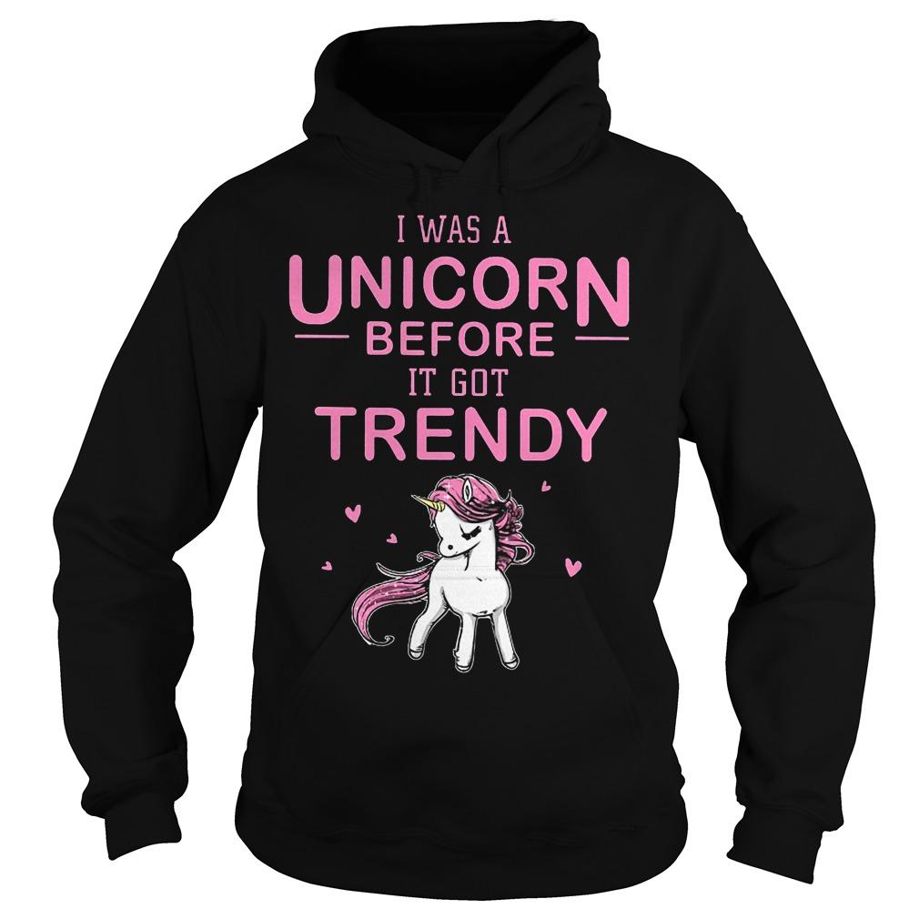 I Was A Unicorn Before I Got Trendy Hoodie