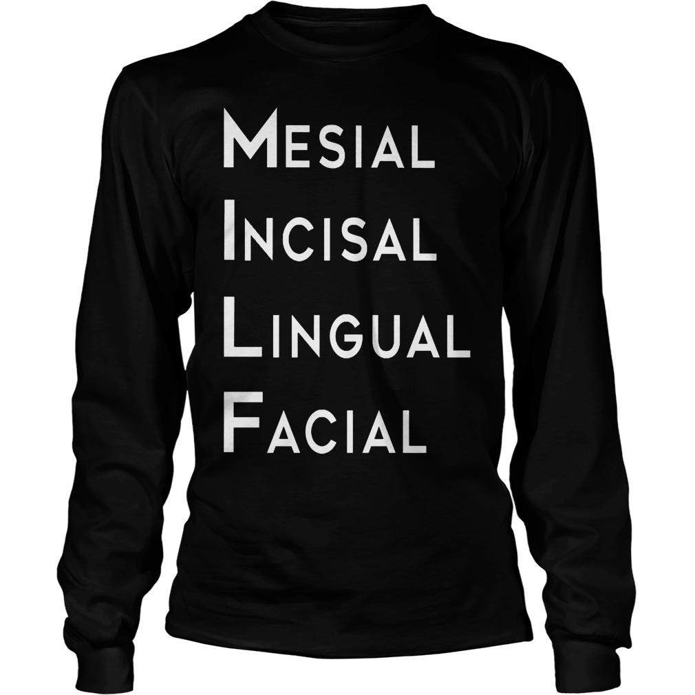 Mesial Incisal Lingual Facial Longsleeve