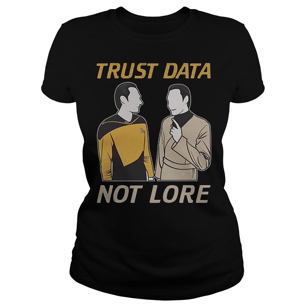 Trust Data Not Lore Ladies