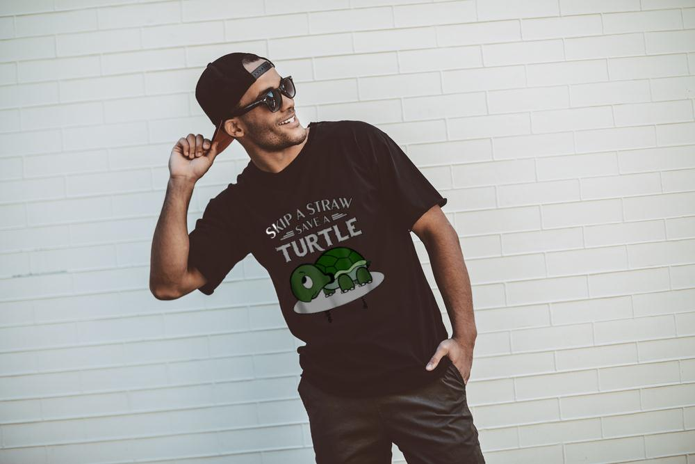 A Straw Save A Turtle T Shirt