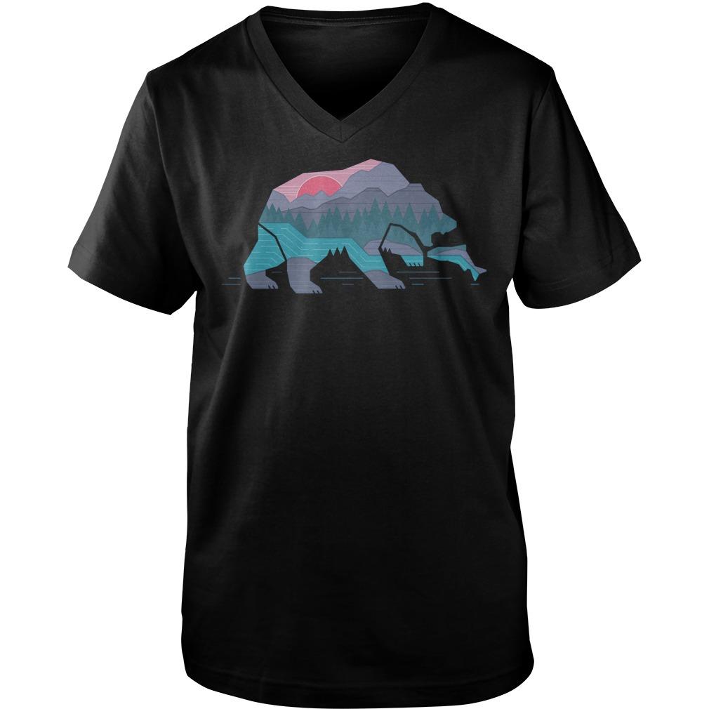 Country Bear T-Shirt Guys V-Neck