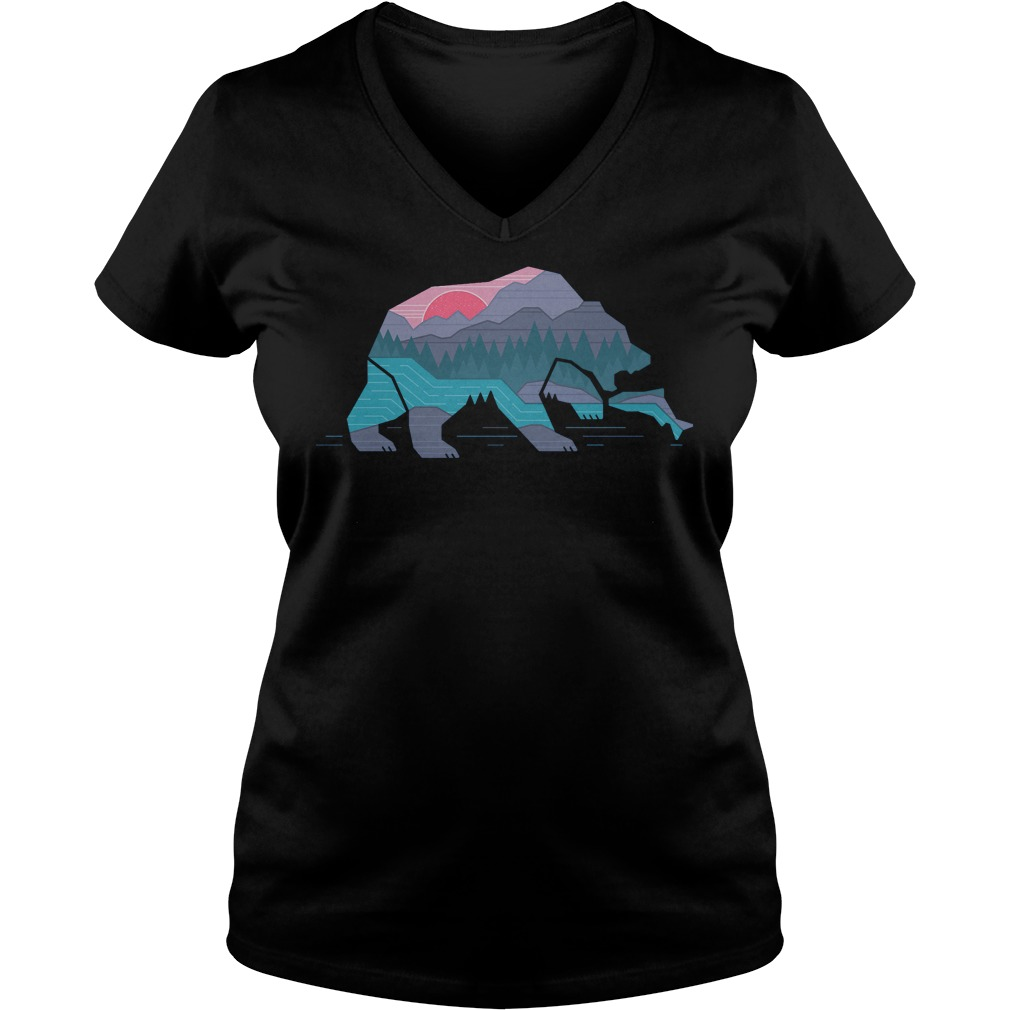 Country Bear T-Shirt Ladies V-Neck
