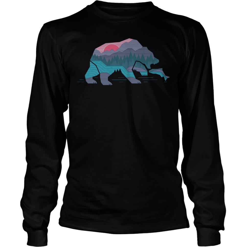 Country Bear T-Shirt Longsleeve Tee Unisex