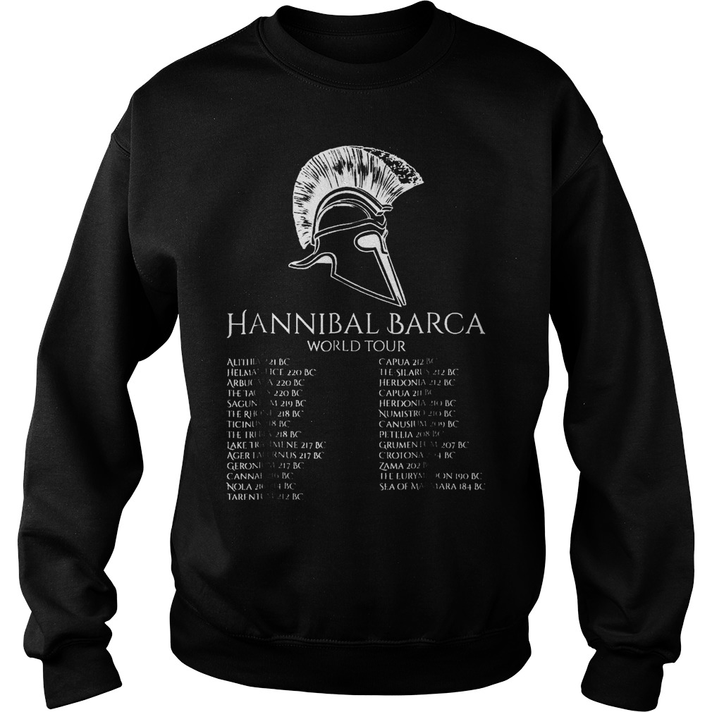 Hannibal Barca World Tour History T-Shirt Sweatshirt Unisex