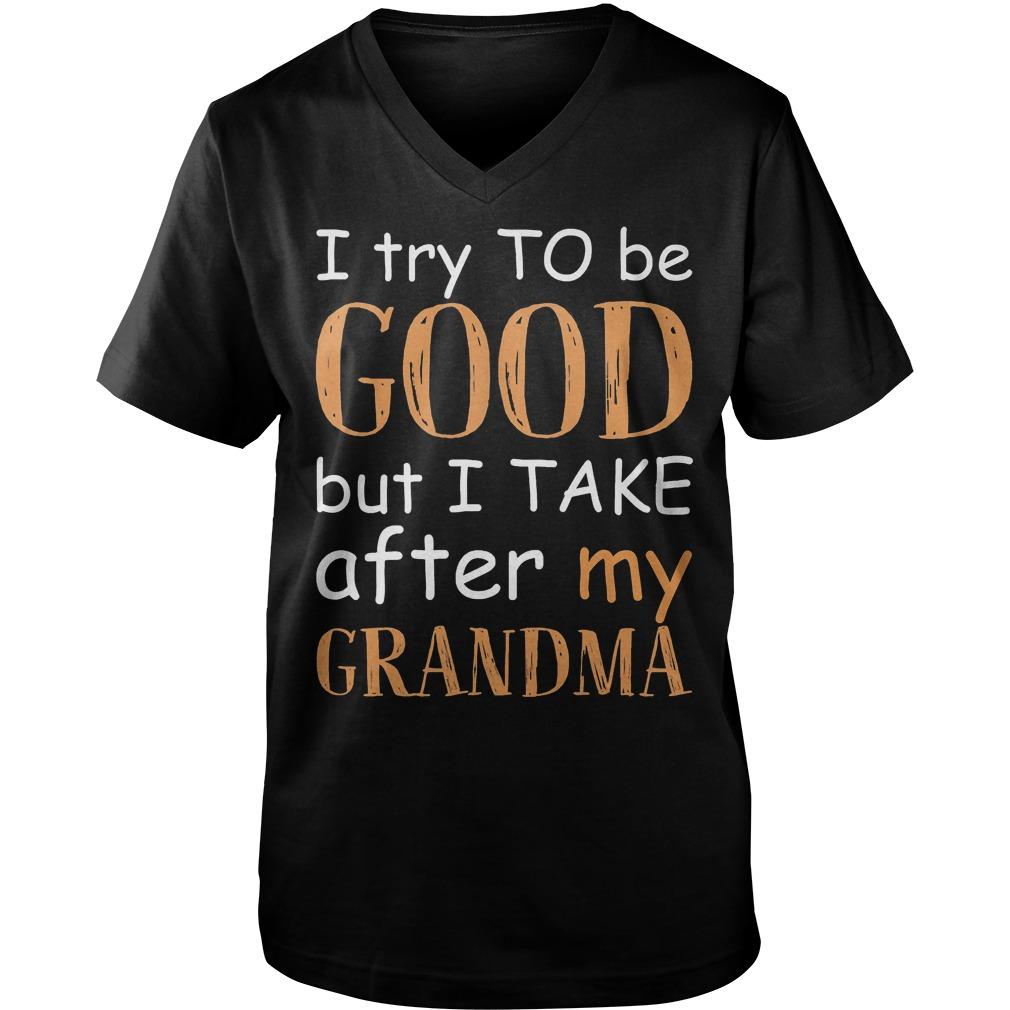 I Try To Be Good T-Shirt Guys V-Neck