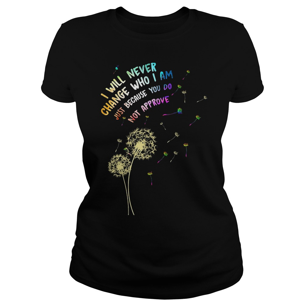I Will Never Change Who I Am Just T-Shirt Classic Ladies Tee