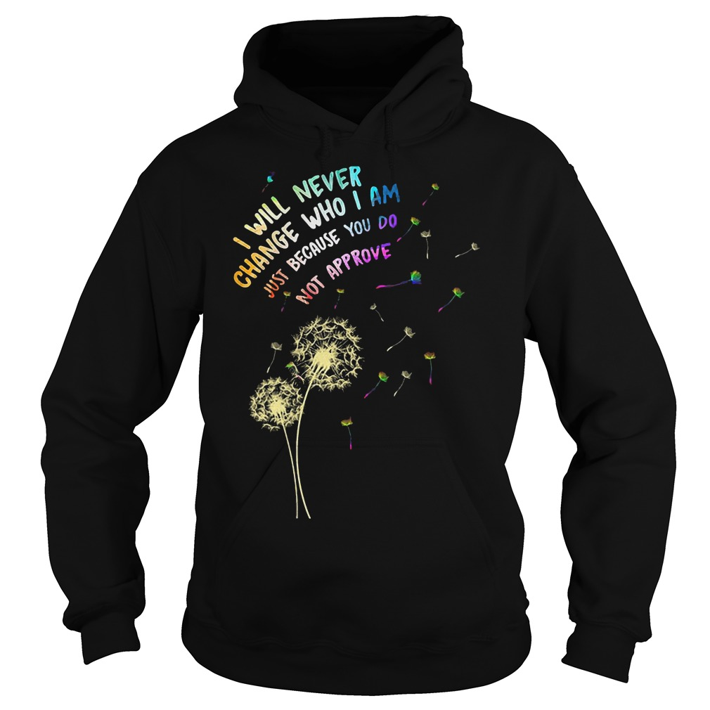 I Will Never Change Who I Am Just T-Shirt Hoodie