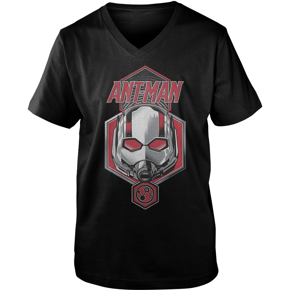 Official Ant Man Face T-Shirt Guys V-Neck