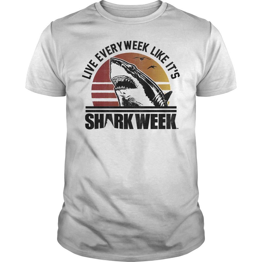 Official Shark Week Live Every Week Like It's T-Shirt Classic Guys / Unisex Tee
