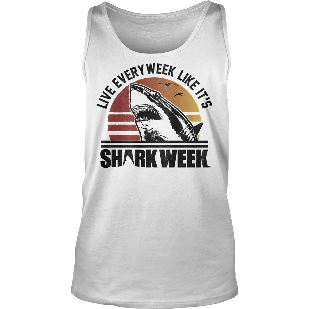 Official Shark Week Live Every Week Like It's T-Shirt Tank Top Unisex