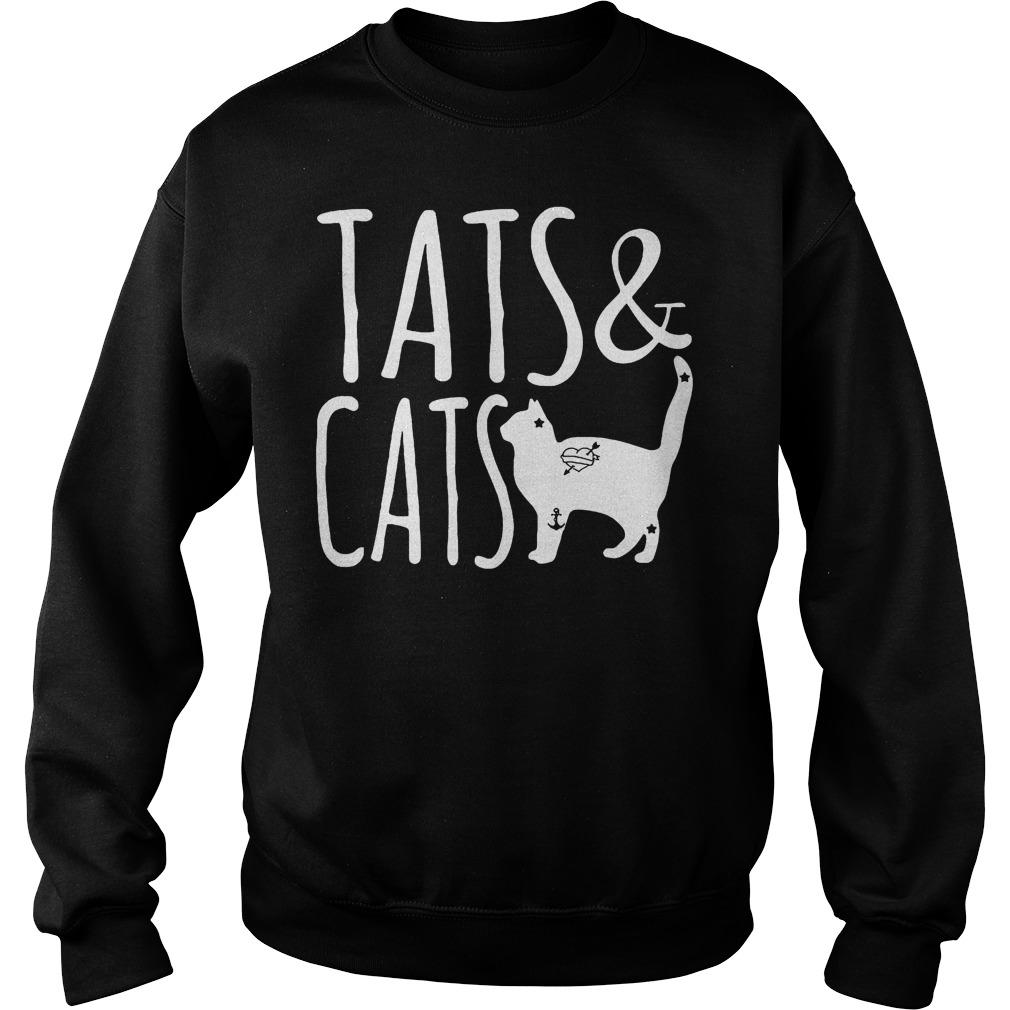 Official Tats And Cats Tattoo Animal T-Shirt Sweatshirt Unisex