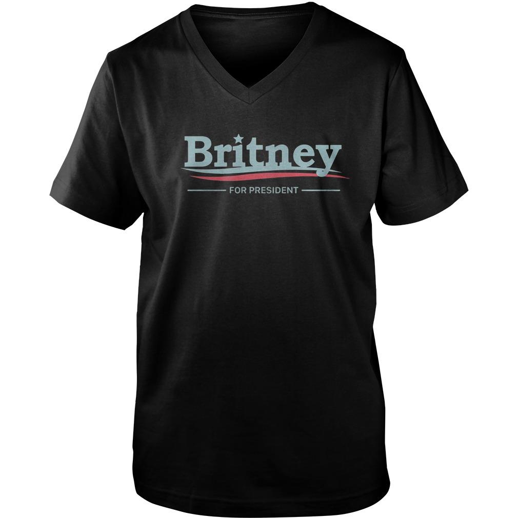Premium Britney For President T-Shirt Guys V-Neck
