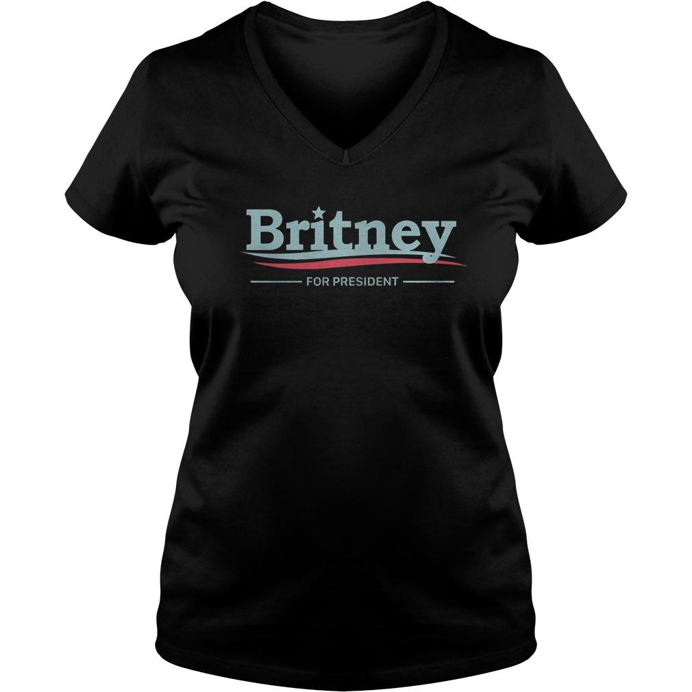 Premium Britney For President T-Shirt Ladies V-Neck