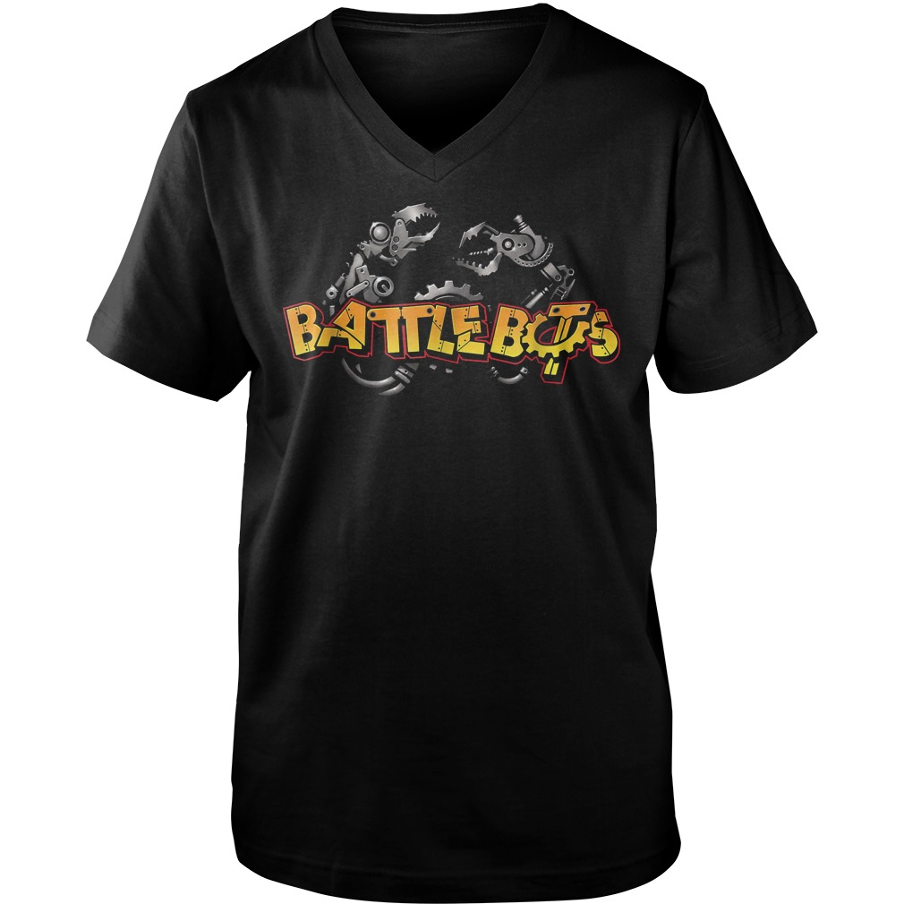 Robot Wars Robotic Arm Battle Bot T-Shirt Guys V-Neck