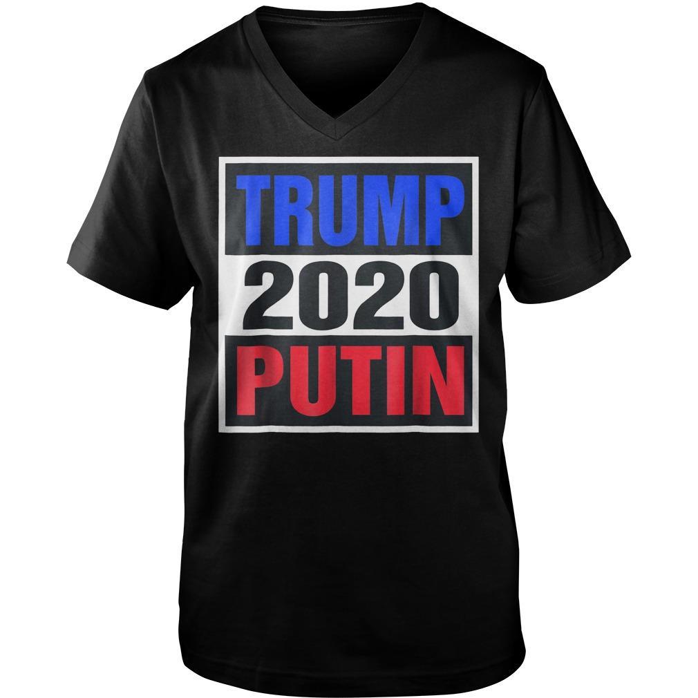 Trump With Putin 2020 T-Shirt Guys V-Neck