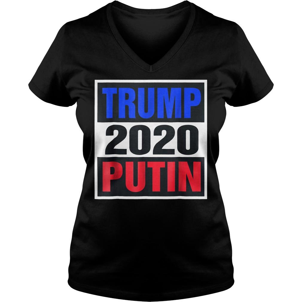 Trump With Putin 2020 T-Shirt Ladies V-Neck