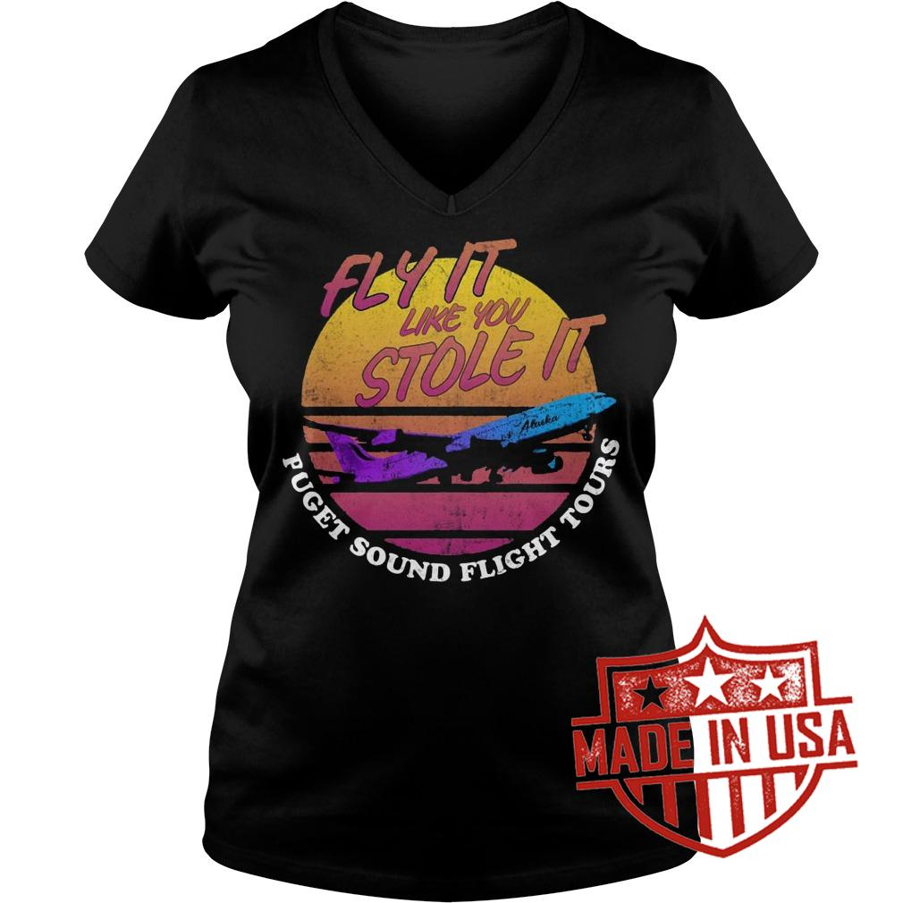 Best Price Fly it like you stole it retro shirt Ladies V-Neck