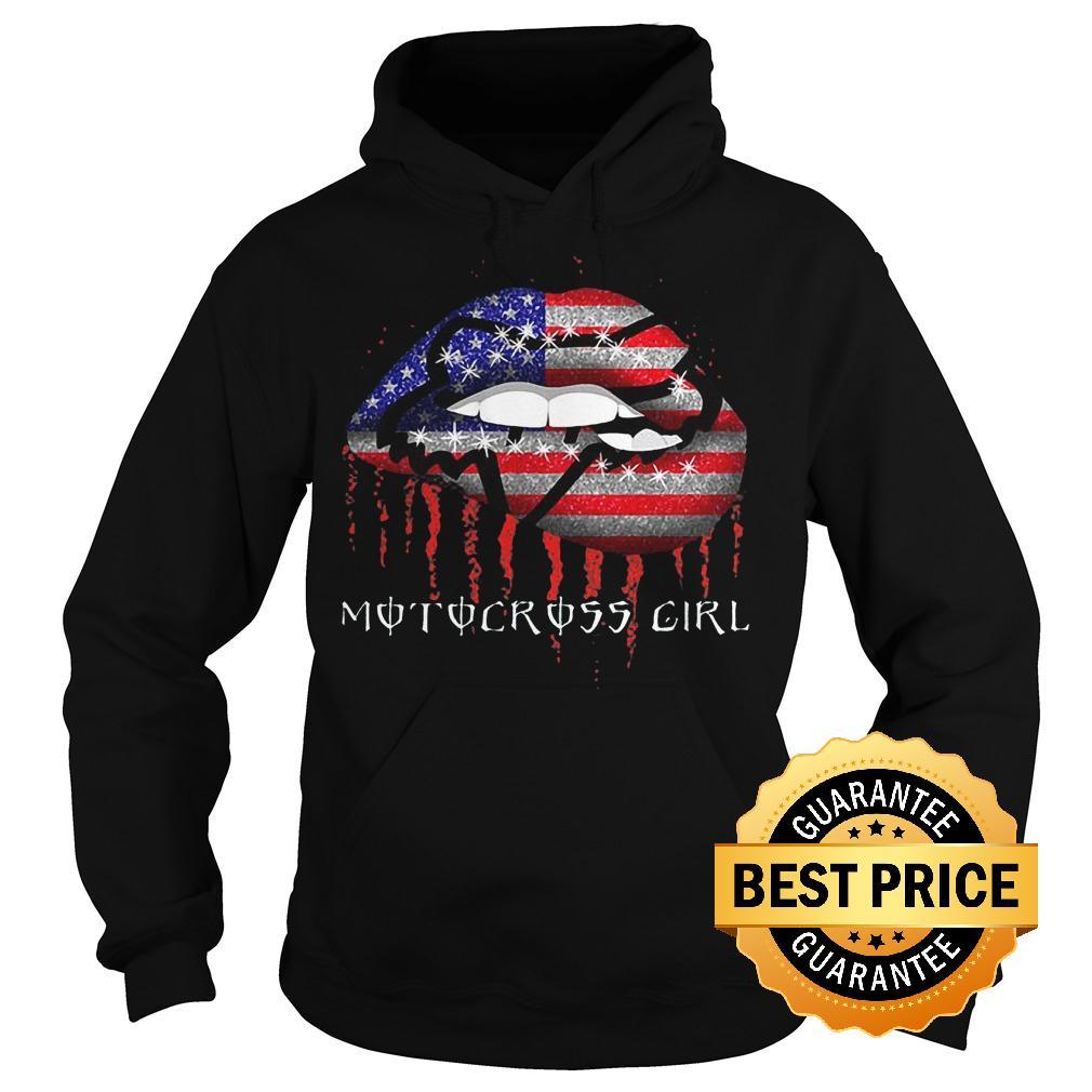 Best Price Motocross girl lips shirt Hoodie