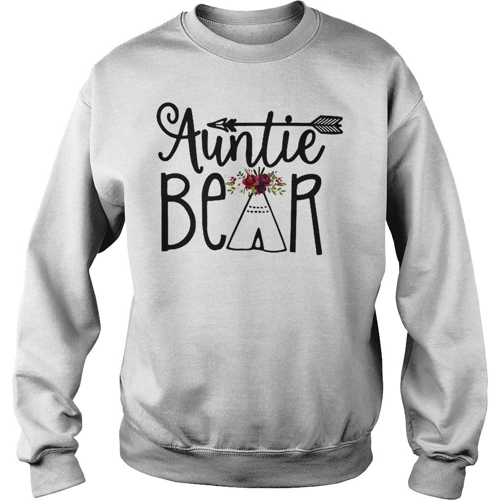 Original Auntie Bear Flower Tent Arrow Shirt