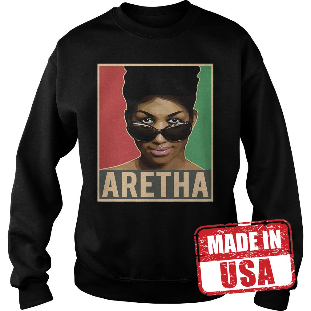 Premium Aretha We Love You Queen Soul Aretha Franklin Shirt Sweatshirt Unisex