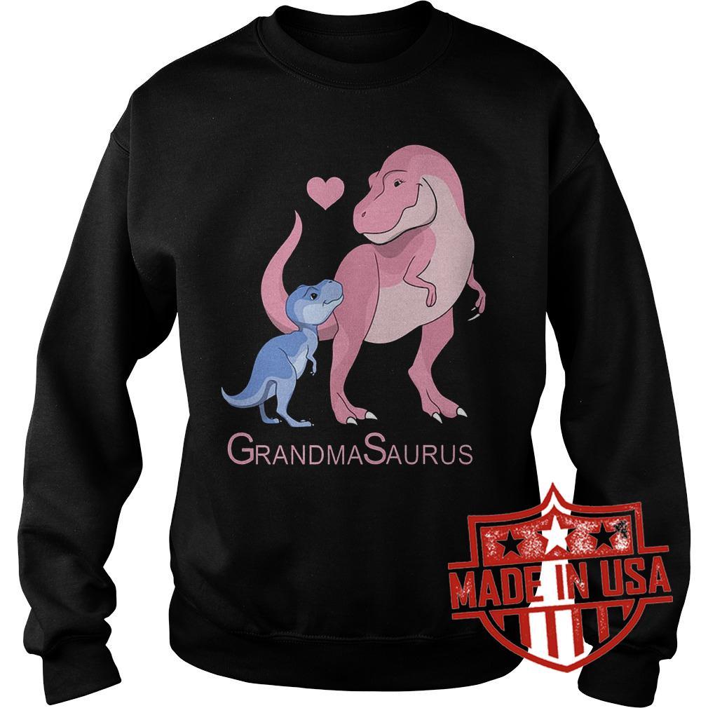 Premium Blue and pink Dinosaurus Grandma Saurus Shirt Sweatshirt Unisex