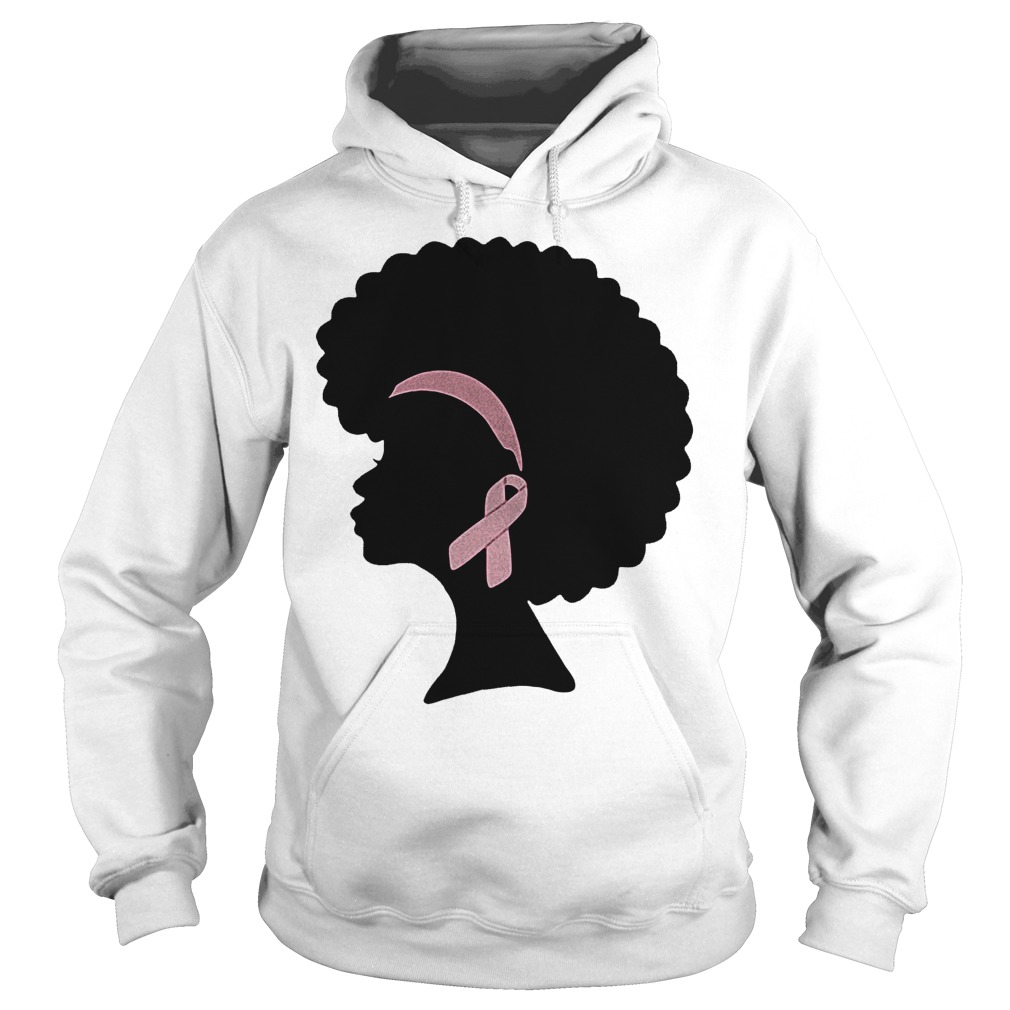 Premium Breast cancer black woman shirt Hoodie