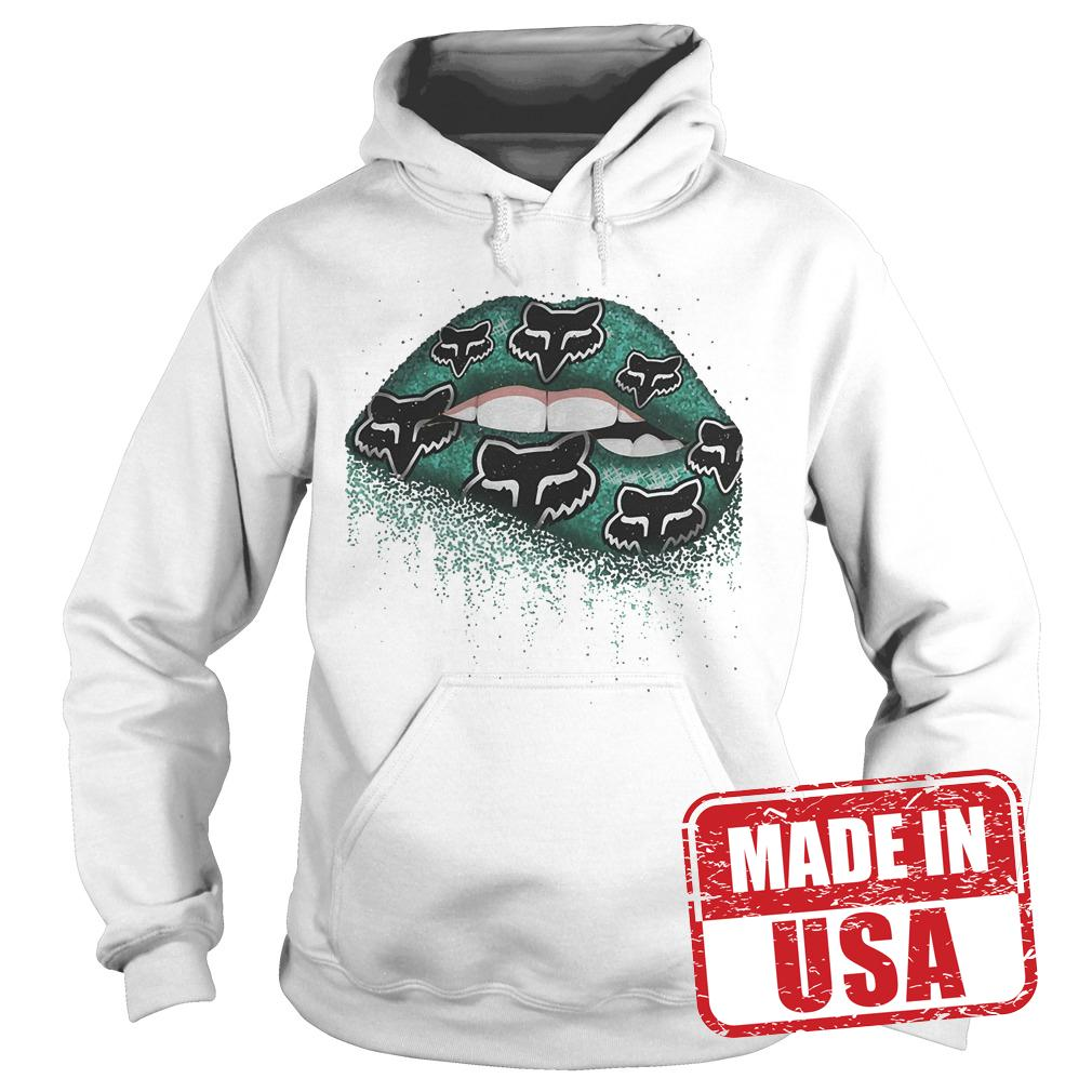 Premium Fox Racing Lips Shirt Hoodie