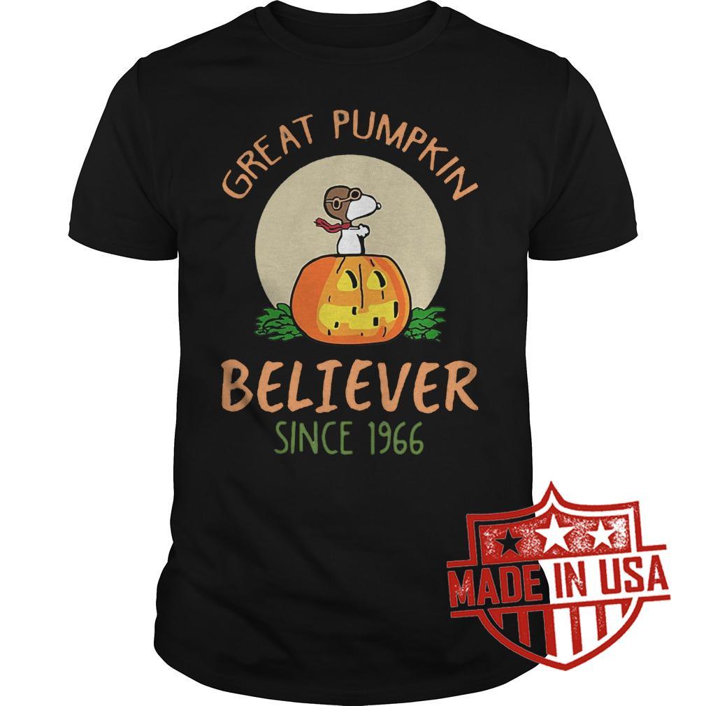 Premium Snoopy Great Pumpkin Believer Since 1966 Shirt Classic Guys Unisex Tee.jpg