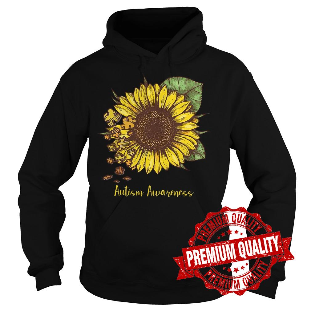 Premium Sunflower Autism Awareness shirt Hoodie