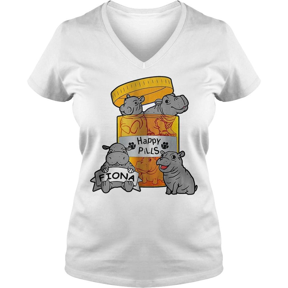 Top Fiona Happy Pills Shirt Ladies V-Neck